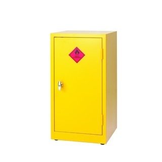 Yellow Hazardous Substance Storage Cabinet 1-Shelf 915mm 18874