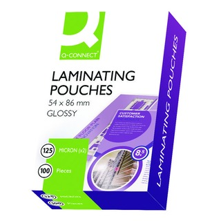 54x86mm Laminating Pouches 250 Micron (100 Pack)