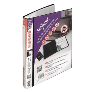 ZipIt ReOrganiser 40 Pocket Black Presentation Display Book 15780