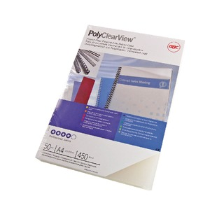 PolyClearView Binding Covers 350 Micron A4 Clear Matte (100 Pack) I
