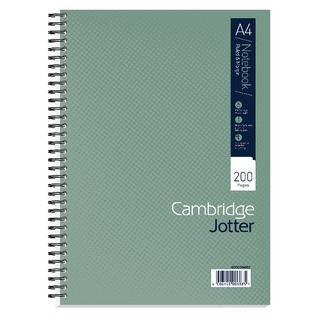 A4 Wirebound Notebook Ruled Margin 200 Pages (3 Pack) 40003906