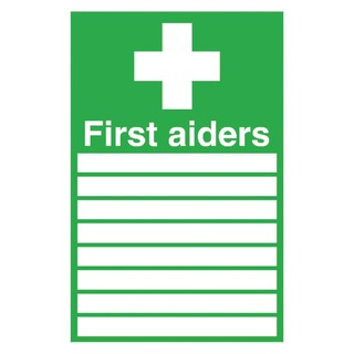 fety Sign 300x200mm First Aiders Self-Adhesive FA01926