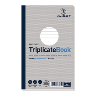 Triplicate Book Ruled Carbonless 100 Sets 210 x 130mm (5 Pack) 100080445