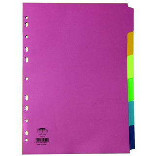 Bright A4 Divider 6-Part Assorted