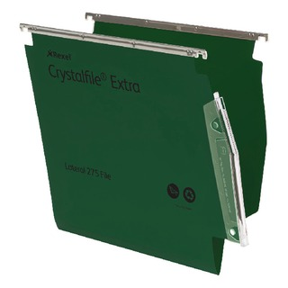 CrystalFile Extra Lateral File 275mm A4 Green (25 Pack)