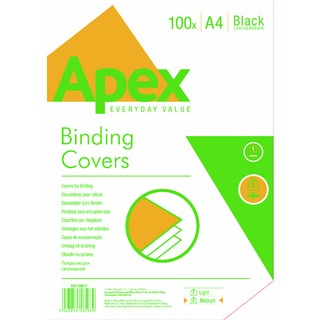Black Leatherboard Covers A4 (100 Pack) 6501001