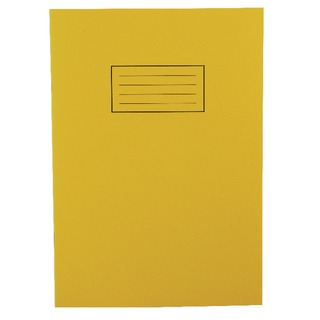 Ruled Feint With Margin Yellow A4 Exercise Book 80 Pages (10 Pack) EX109