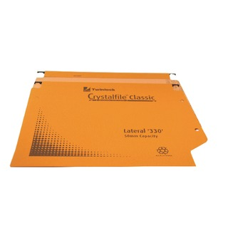 Crystalfile Classic Lateral File 50mm 500 Sheet Orange (25 Pack)