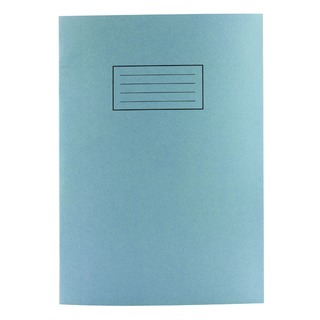 A4 Exercise Book 80 Plain Pages Blue (10 Pack) EX