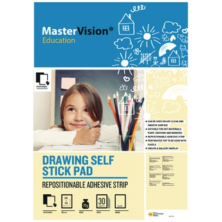 office Self Stick Mastervision Drawing Pad Plain FL1226407R