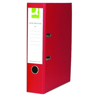 Lever Arch File Foolscap Paper Over Board Red (10 Pack)