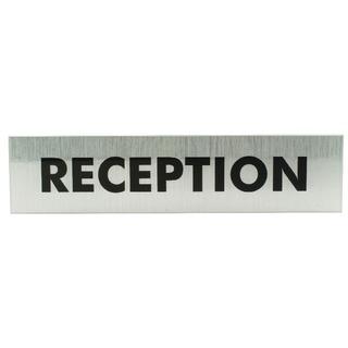 Acrylic Sign Reception Aluminium 190x45mm SR