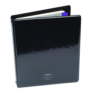 A5 Black Telephone/Address Binder 83010/CD6