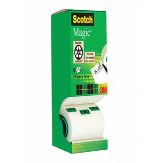 Magic Tape Tower Pack 19mm x 33m (8 Pack) 8-1933R8