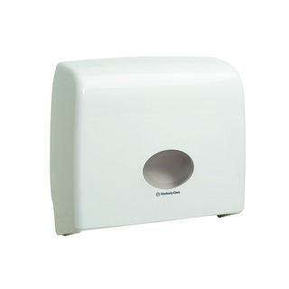Aquarius White Ripple Midi Jumbo Non-Stop Toilet Tissue Dispenser 699