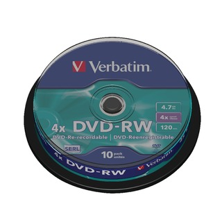 DVD-RW Discs 4X 4.7GB (Spindle of 10 Pack)