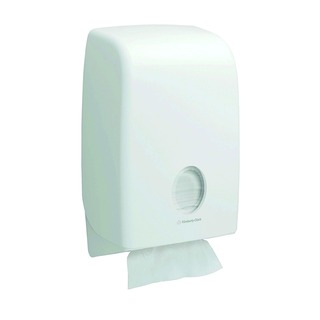 Aquarius White Folded Hand Towel Dispenser 6945
