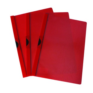 Red A4 Quickclip 3mm File (25 Pack)
