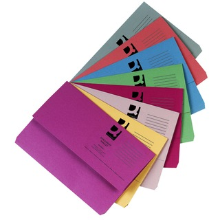 Foolscap Assorted Document Wallets (50 Pack)