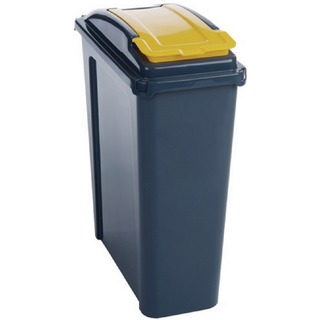 25 Litre Yellow Recycling Bin With Lid 384283