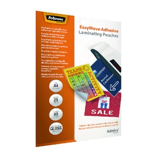Admire EasyMove Adhesive A4 Laminating Pouches 160 Micron (25 Pack) 5601701