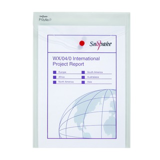 Clear A4 Portrait Polyfile P File Wallet (5 Pack) 13263