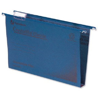 Crystalfile Classic Suspension File Complete 50mm Foolscap Blue (50 Pack)