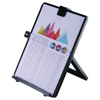 Black Workstation Document Holder