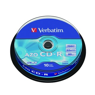 CD-R Datalife Non-AZO 80minutes 700MB 52X Non-Printable Spindle Pack of 10