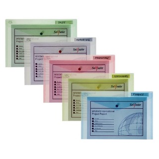 Polyfile Classic Wallet Foolscap Assorted (5 Pack) 1008