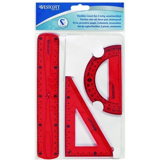 Flexible Ruler Set of 3 Assorted Colours Pack of 12 E-10301 00