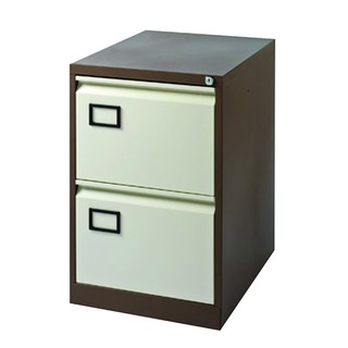 Coffee/Cream 2 Drawer Filing Cabinet