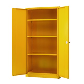 Yellow Hazardous Substance Storage Cabinet With 3 Shelves 188736