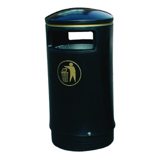 Black and Gold Victorian Hooded Top 75 Litre Bin 32