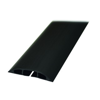 Black Light Duty Floor Cable Cover 80mm x 1.8m Long CC-1