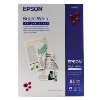 A4 Inkjet Paper 90gsm Bright White Ream (500 Pack) S041749 C13S0