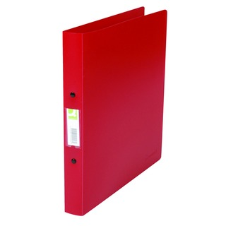 2 Ring 25mm Polypropylene Red A4 Binder (10 Pack)