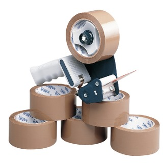 Tape Dispenser With 6 Rolls Polypropylene Tape 50mmx66m (6 Pack) 9761Bdp0