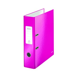180° WOW 80mm Metallic Pink A4 Lever Arch File (10 Pack) 100500