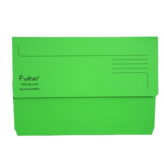 Forever Bright Green Document Wallet (25 Pack) 211/5004