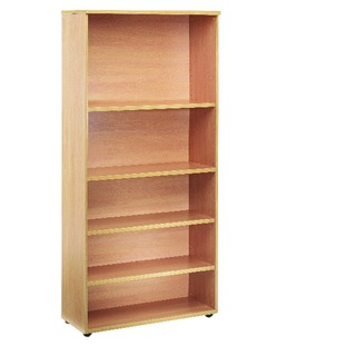4 Oak Shelf 1800mm Bookcase