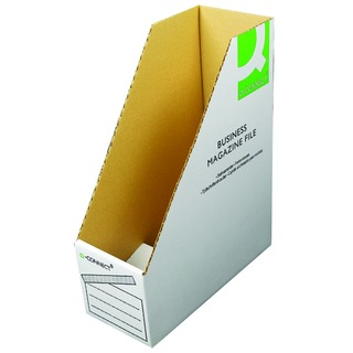 Business Magazine File W100 x D230 x H300mm White (10 Pack)