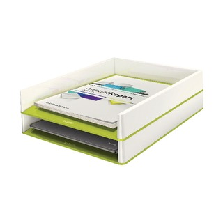 WOW Letter Tray Dual Colour White/Green 53611064