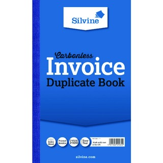 Carbonless Duplicate Invoice Book 210x127mm (6 Pack) 711-T
