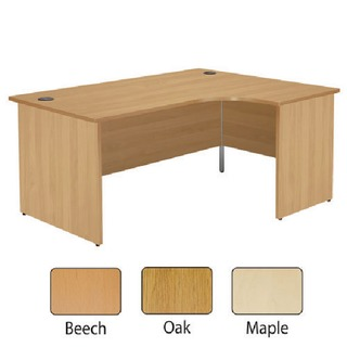Beech Right Hand Panel End 1600mm Radial Desk