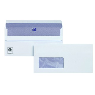 DL Window Envelope 110gsm Self Seal White (250 Pack)