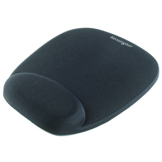 Black Foam Mouse Pad With Integral Wrist Rest