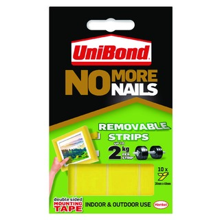 UniBond No More Nails Removable Strips (10 Pack) 15076