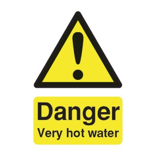 fety Sign Danger Very Hot Water 75x50mm Self-Adhesive HA17343