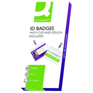 Hot Laminating ID Badge With Clip (25 Pack)